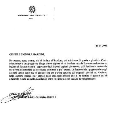 La santona degli anti sette verba volant scripta manent for Camera dei deputati web tv